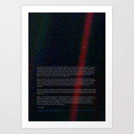 Pale Blue Dot - Voyager 1 [Ukrainian / Український] Art Print