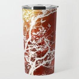 Burgundy Tree Art Travel Mug