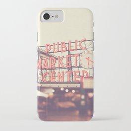 Seattle Pike Place Public Market photograph, 620 iPhone Case