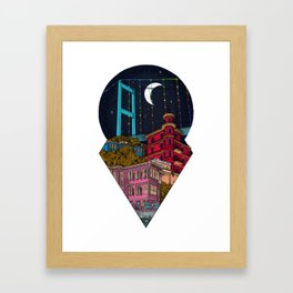 Night carries the lights Framed Art Print