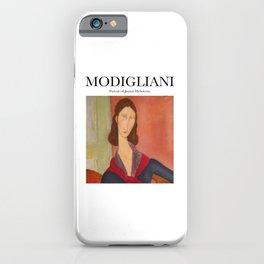 Modigliani - Portrait of Jeanne Hebuterne iPhone Case