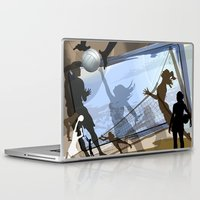 volleyball Laptop & iPad Skins featuring Anyone For Volleyball? by Robin Curtiss