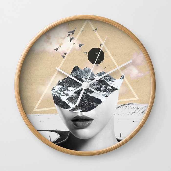 Collage Art Wild Nature Wall Clock By Dada22 Society6