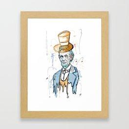 Honest Abe.  Framed Art Print