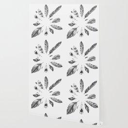 circulo de plumas Wallpaper