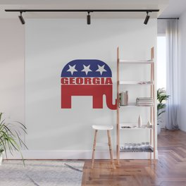 Georgia Republican Elephant Wall Mural