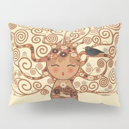 Kokeshi Tree of life Pillow Sham