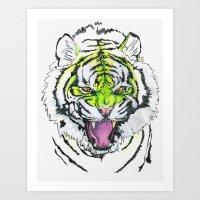 TIGER HUNGRY Art Print