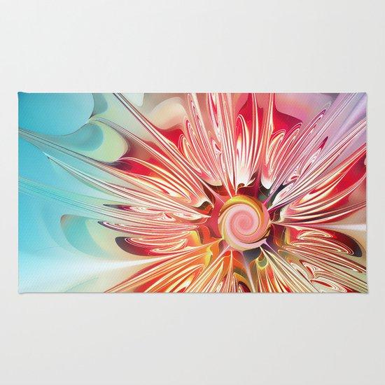 Splendid Fractal Flower Rug