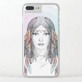 watercolor godess Clear iPhone Case
