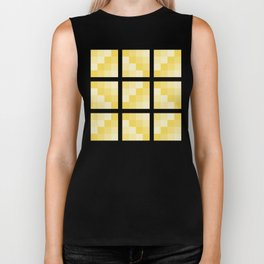 Four Shades of Yellow Square Biker Tank