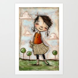 Carefree by Diane Duda Art Print