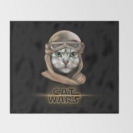 Cat Wars Rey Throw Blanket