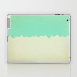A Single Aqua Scallop Laptop & iPad Skin