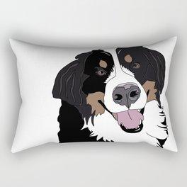 Angus the Bernese Mountain Dog Rectangular Pillow