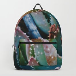 Orange and Green Succulent Backpack