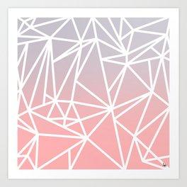Gradient Mosaic 1 Art Print