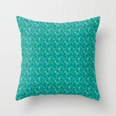 Green Dots Throw Pillow