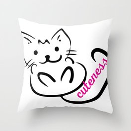 Cat Love Throw Pillow