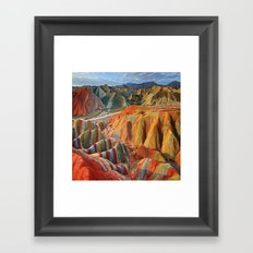 colours mountains Framed Art Print
