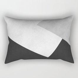 Modern Gray Art IV Rectangular Pillow