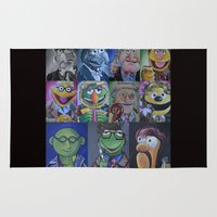 muppets Area & Throw Rugs featuring Muppets/ Doctor Who Mash-up by Lissyleem
