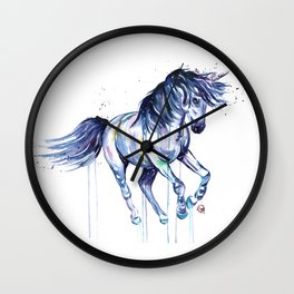 Unicorn - Unicorn Dreams - Colorful Watercolor Unicorn Painting Wall Clock