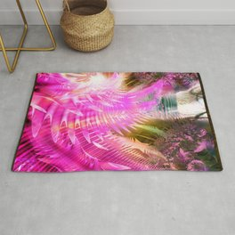 Jane, Colorful tropical abstract Rug