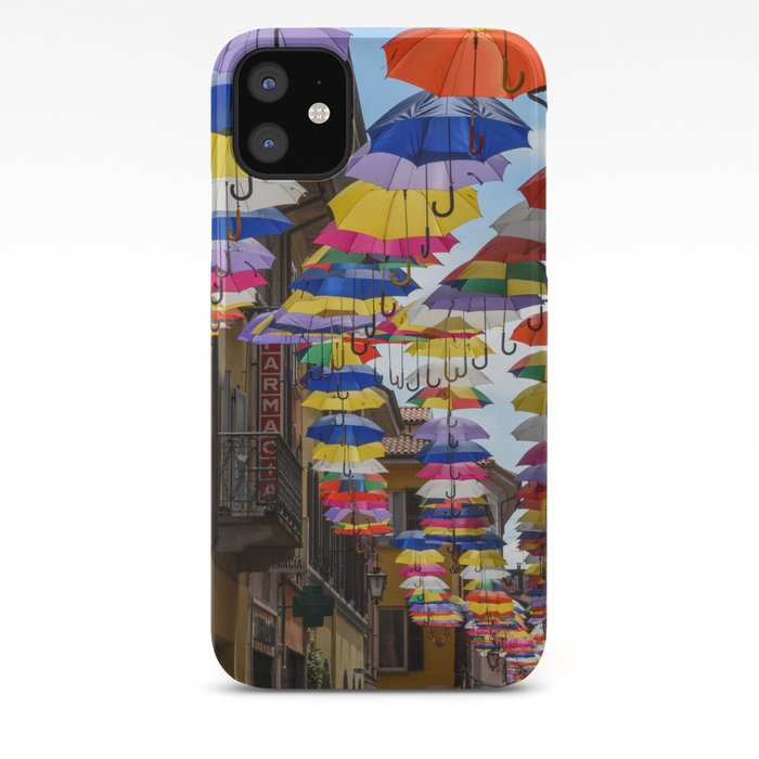 Colorful Umbrella Street In Italy Iphone Case By Worldphotosbypaola