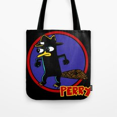 Perry The Platypus as Dick Tracy Tote Bag