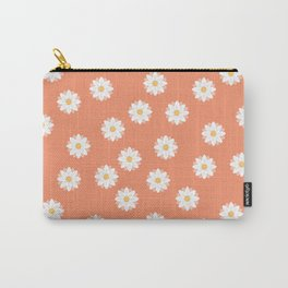 Scattered Daisies, Canteloupe Carry-All Pouch