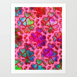 Heart Collage - Happy Valentines Day Art Print