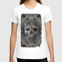 dark T-shirts featuring Lace Skull by Ali GULEC