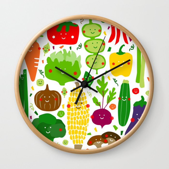 Eat your greens! Wall Clock