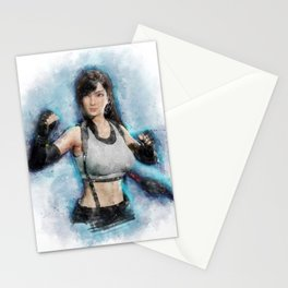 Tifa Lockhart FF VII watercolor 2 Stationery Cards