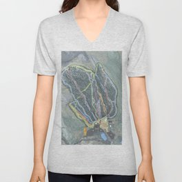 Ski Butternut Trail Map Unisex V-Neck