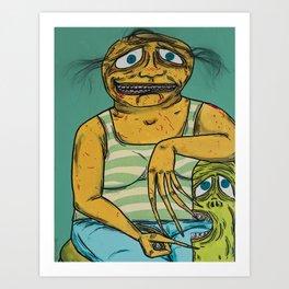 Fatty & His Pet Dil Art Print