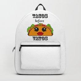Tacos before Vatos Kawaii Backpack