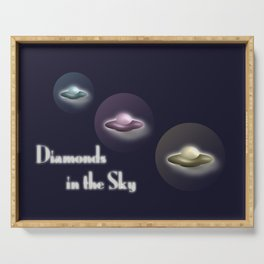Diamonds in the Sky Serving Tray