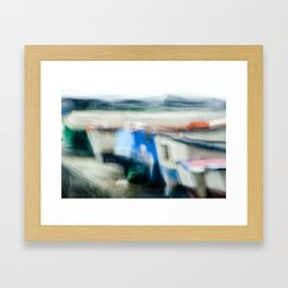 Boats Painting Framed Art Print