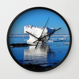 Iceberg in the Shallows Wall Clock