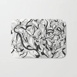 Squiggly Wiggly Lines Bath Mat