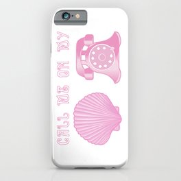 KG Beauty Call Me On My Shell Phone iPhone Case