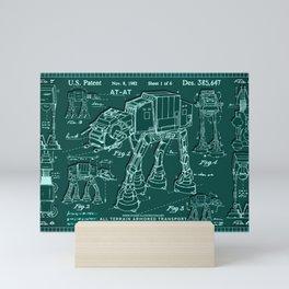 Schemes of a futuristic war machine Mini Art Print