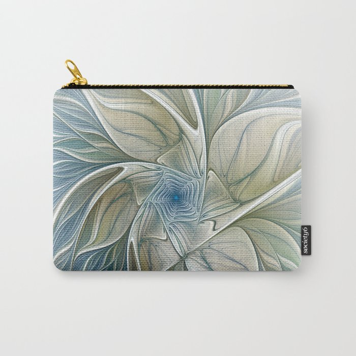 A Floral Dream, Abstract Fractal Art Carry-All Pouch