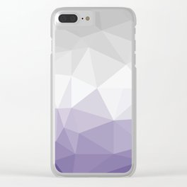 ultra violet and grey polygon Clear iPhone Case
