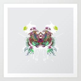 Inknograph XI - Inkblot Art Art Print
