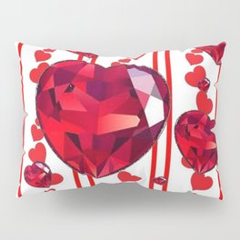 RED VALENTINES & RUBY HEARTS  DESIGN Pillow Sham