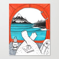 Happy Camper Colour Canvas Print