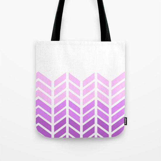OMBRE LACE CHEVRON 2 Tote Bag